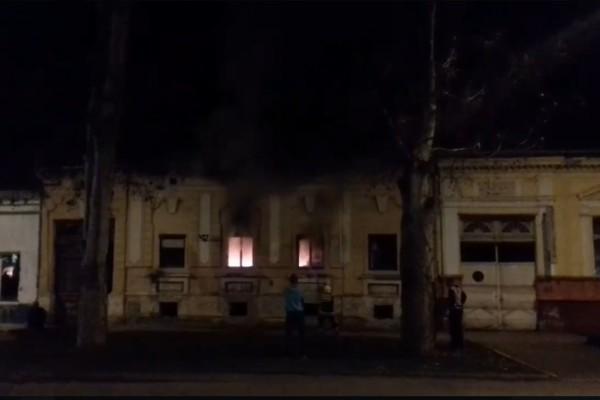 Snimak požara u centru Bačke Palanke – snimak