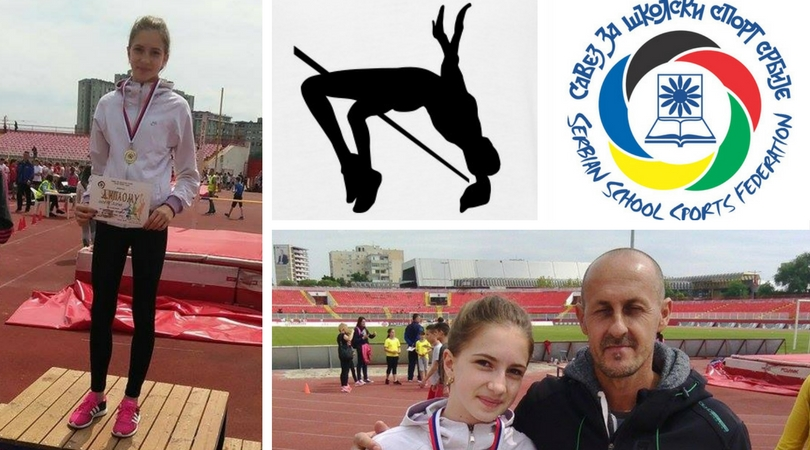Anđela Đurić – velika atletska nada skoka u vis iz Mladenova