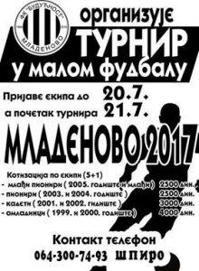 Mladenovo: Turnir u malom fudbalu @ Mali teren FK Budućnost