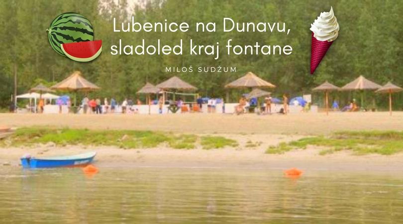 Lubenice na Dunavu, sladoled kraj fontane