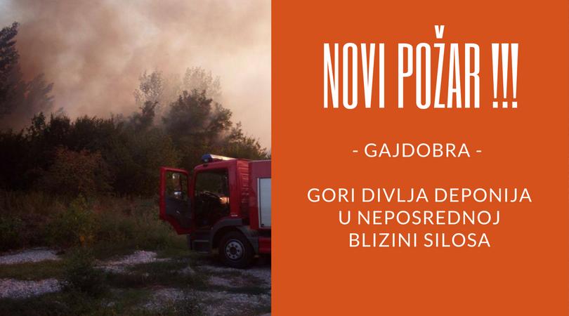 Požar u Gajdobri u blizini silosa (FOTO)