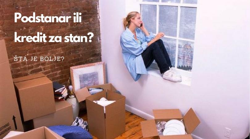 Da li je bolje biti podstanar ili kupiti stan na kredit?