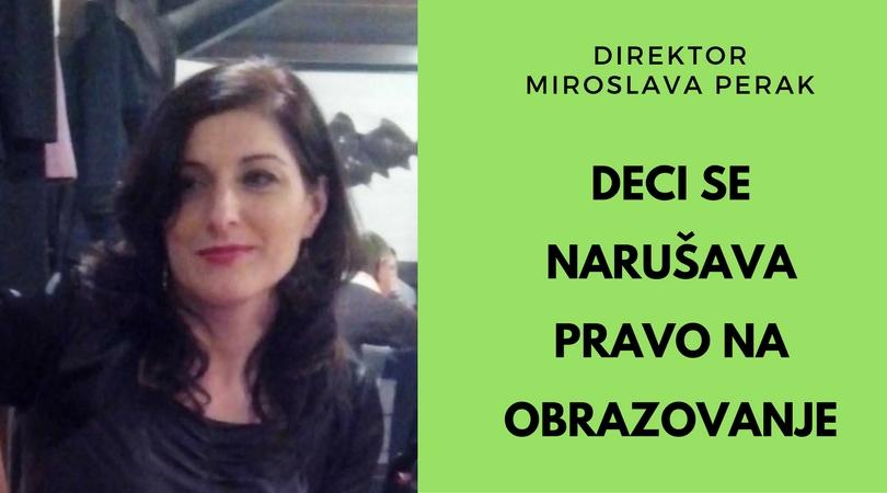 Direktor Miroslava Perak: Ko je u ovoj borbi pobednik? Niko!