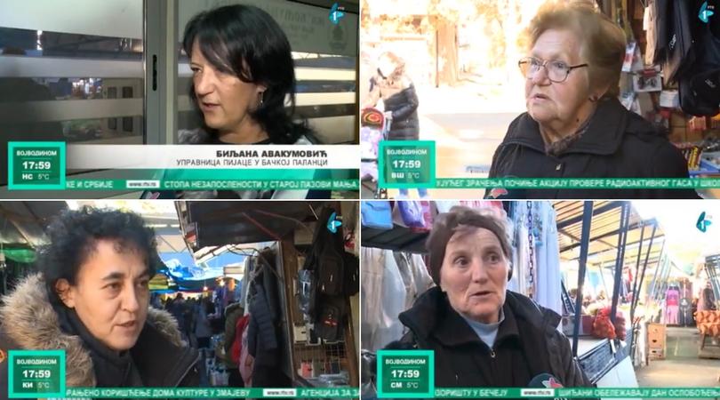 Nehumani uslovi za rad na pijaci u Bačkoj Palanci (VIDEO)