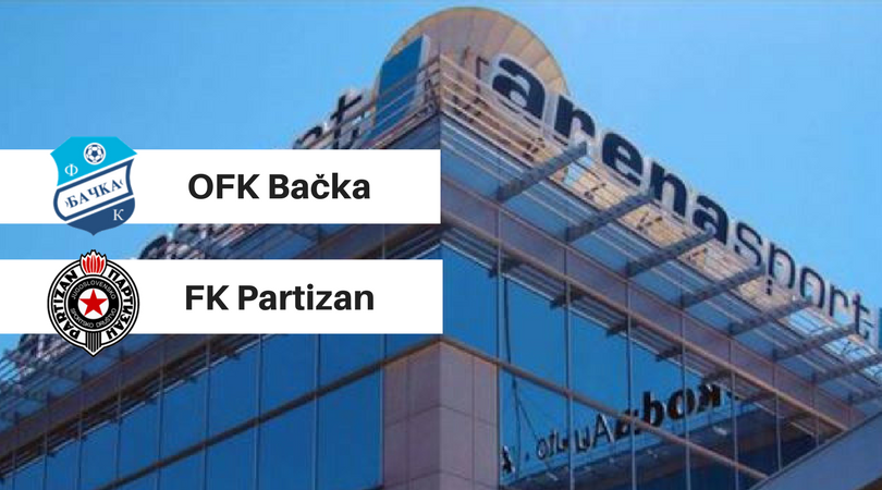 Direktan TV prenos utakmice OFK Bačka – Partizan