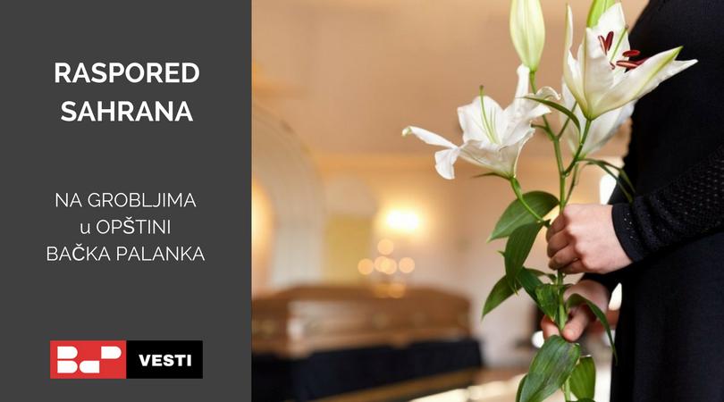 Raspored sahrana – utorak (12.05.)