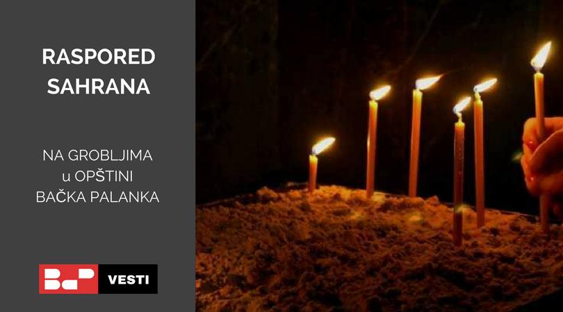 Raspored sahrana – sreda (13.05.)