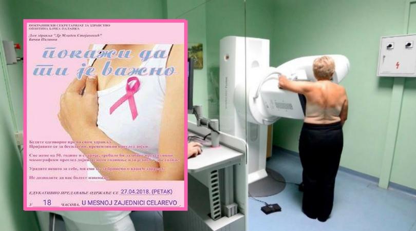"""Početak projekta """"Mamografija za žene na selu"""""""