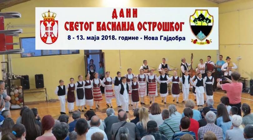 Dani Svetog Vasilija Ostroškog u Novoj Gajdobri