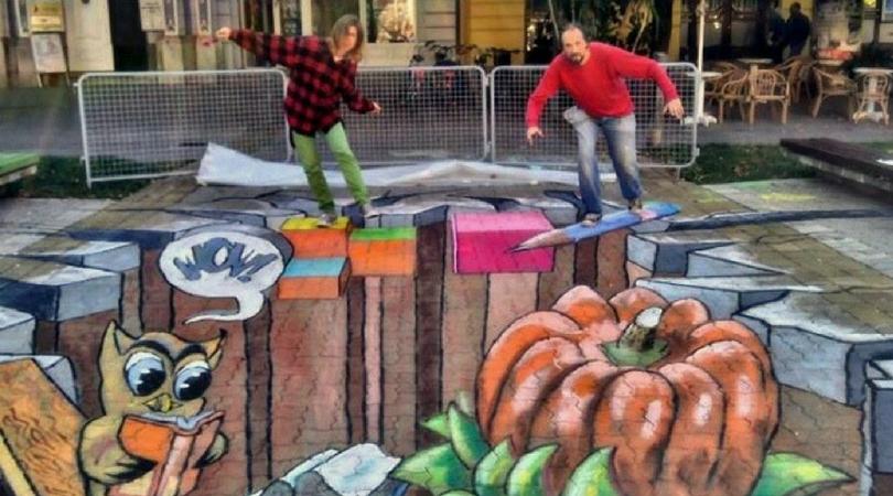 3D street art radionica u Bačkoj Palanci