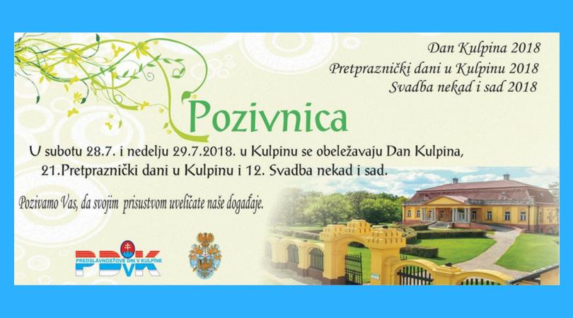 Program osláv v Kulpíne