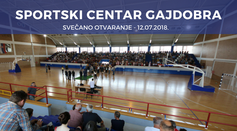 Gajdobra dobila sportski centar posle dve decenije