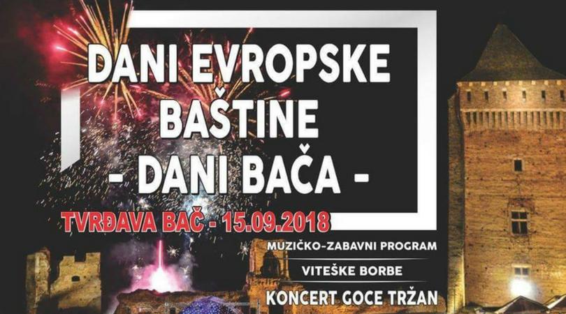 Dani Evropske baštine – Dani Bača