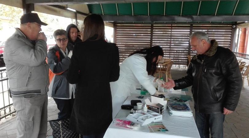 """Društvo dijabetičara """"DIABAP"""" organizovalo akciju besplatnog merenja šećera u krvi"""