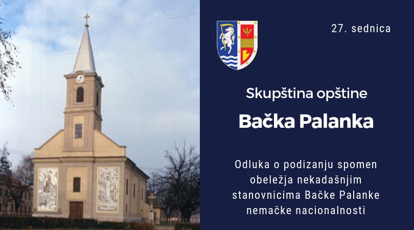 Spomen obeležje i nemcima koji su nekada živeli u Bačkoj Palanci