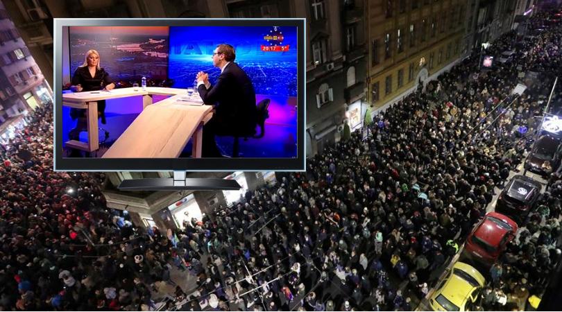"""Održan protest """"1 od 5 miliona""""; Vučić: Protesti su politički, građani zavređuju pažnju"""