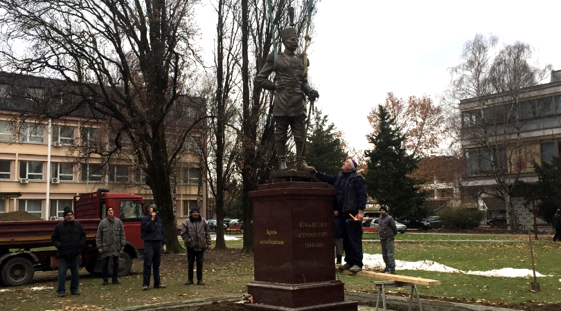 Svečano otkrivanje spomenika kralju Petru I Karađorđeviću u Bačkoj Palanci