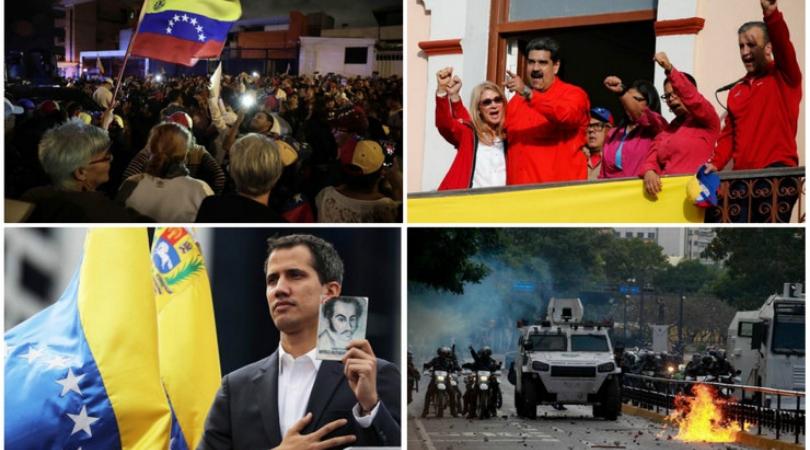 Zapad podržao lidera opozicije, potpuni haos u Venecueli (VIDEO)