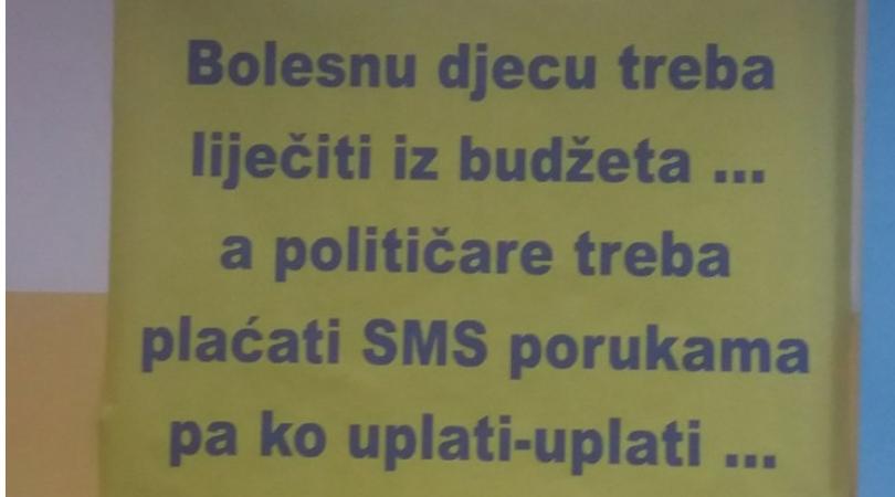 Inicijativa u Tuzli: Decu lečiti iz budžeta, političare plaćati SMS-om