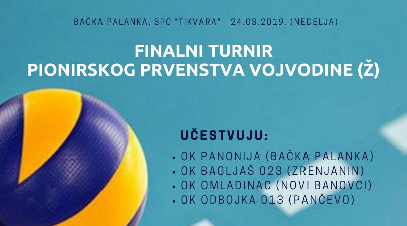 OK Panonija je domaćin finalnog turnira Pionirskog prvenstva Vojvodine