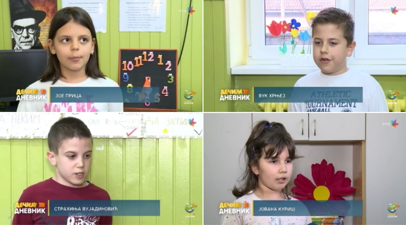 """Učenici 3. razreda OŠ """"Sveti Sava"""" za RTV govore o svojim omiljenim igrama"""