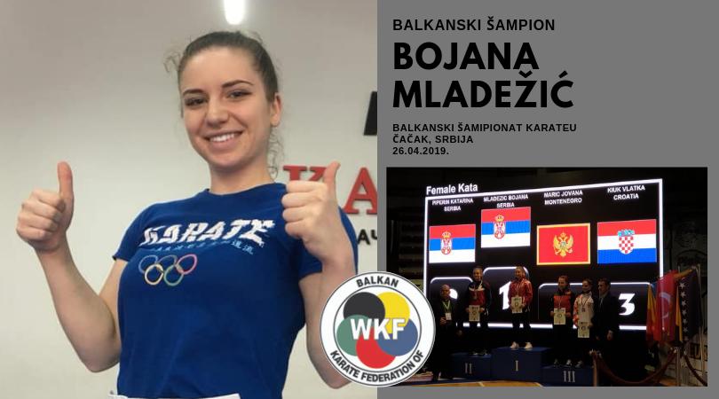 Bojana Mladežić šampion Balkana!