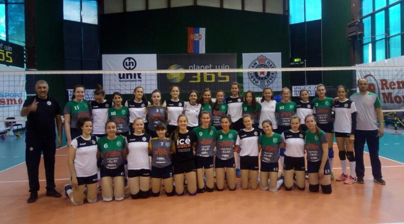 OK Panonija bila gost ekipi beogradskog Partizana