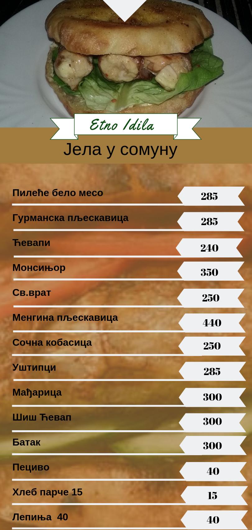 etno idila hrana