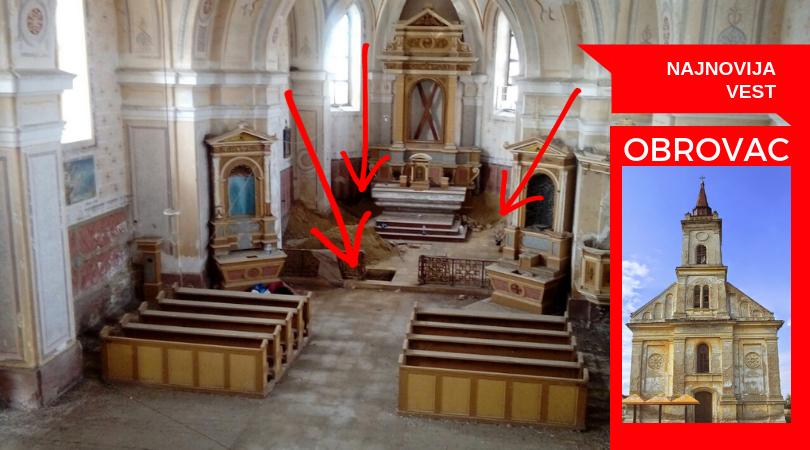 Šta se iskopava u obrovačkoj crkvi?(VIDEO)