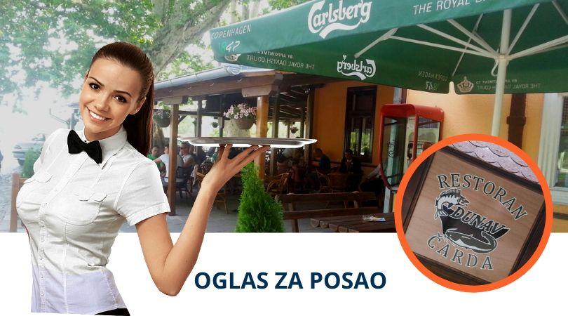Potrebni mlađi konobari za rad na Dunavskoj terasi