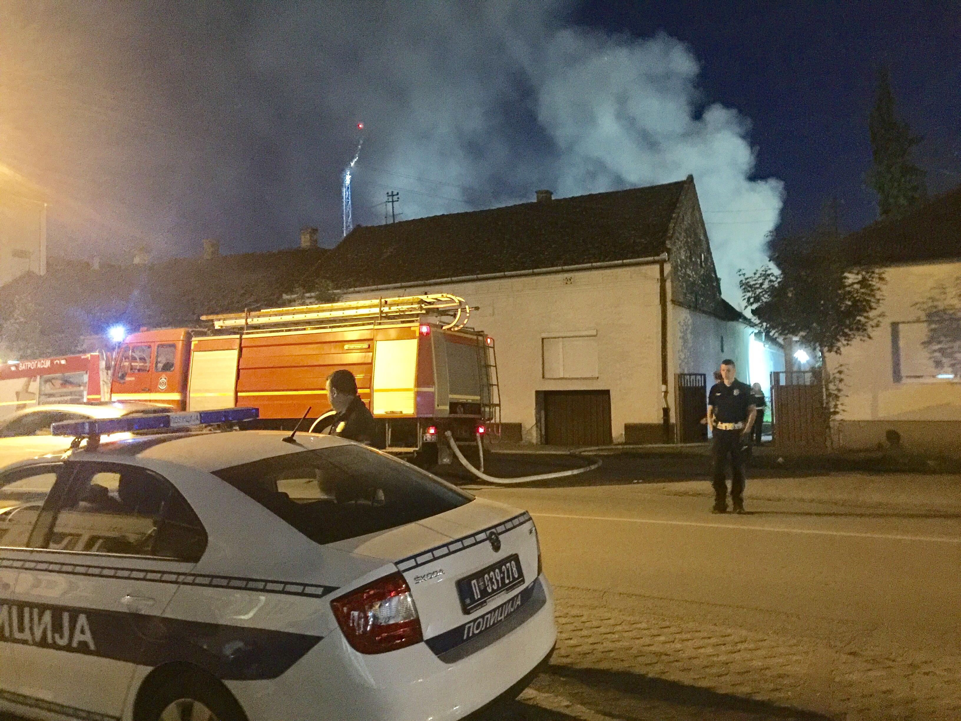 Požar u centru Bačke Palanke