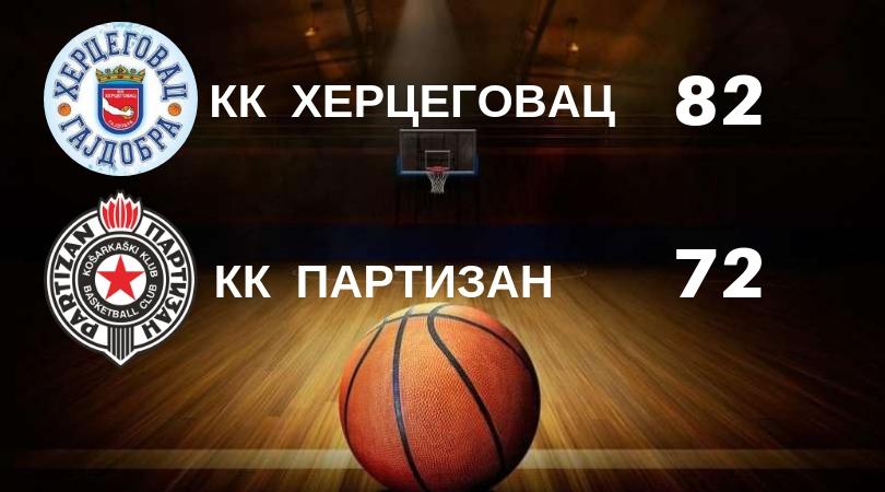 KK Hercegovac – Partizan 82:72