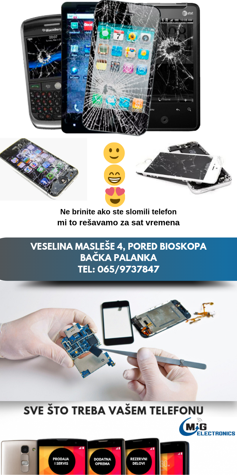 servis mobilnih telefona mig electronich bačka palanka
