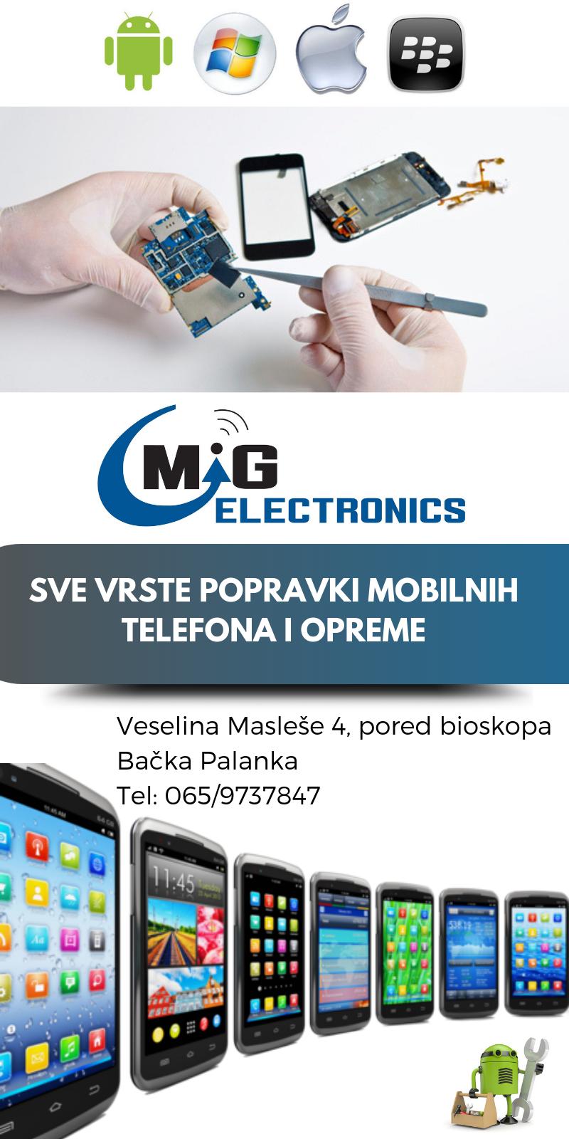 servis mobilnih telefona mig electronics bačka palanka