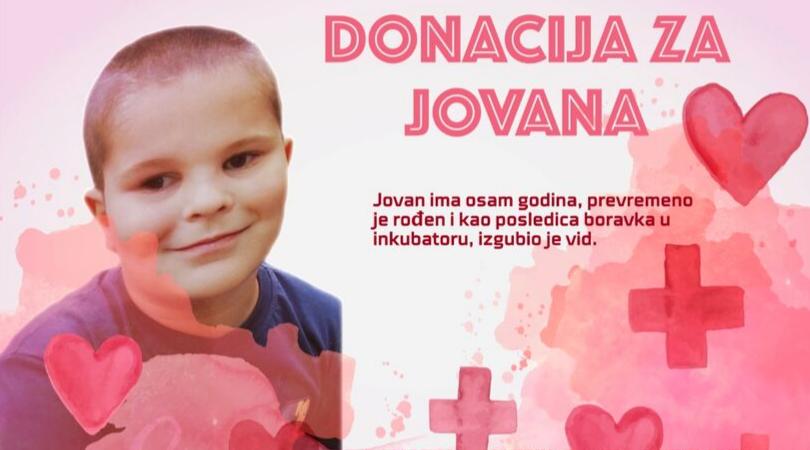 Pomozimo našem malom sugrađaninu Jovanu da ima detinjstvo kao i ostala deca