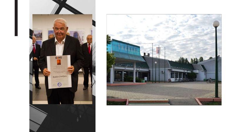 "Radoje Cvetkov, arhitekta sportskog centra ""Tikvara"" u Bačkoj Palanci."