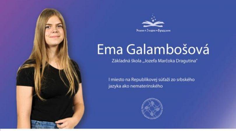 Najbolji na bilbordima u Opštini Bački Petrovac: Ema Galamboš