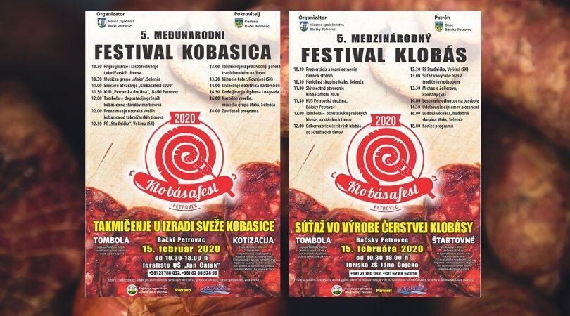 """Međunarodni festival kobasice """"Klobasfest 2020"""""""