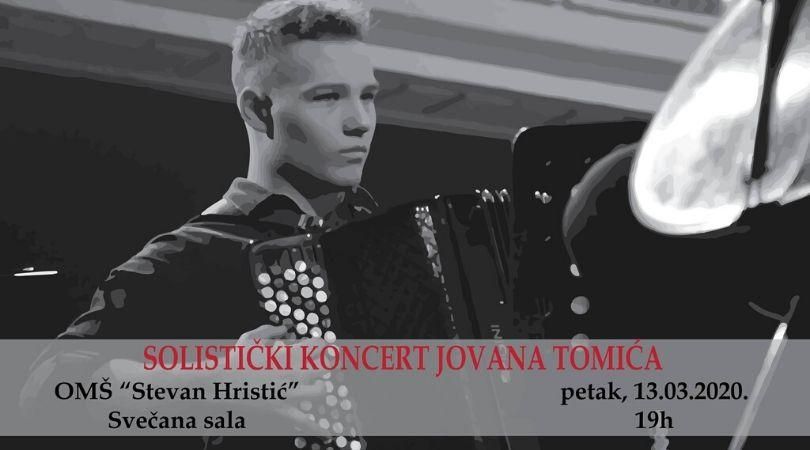 Solistički koncert Jovana Tomića u Bačkoj Palanci
