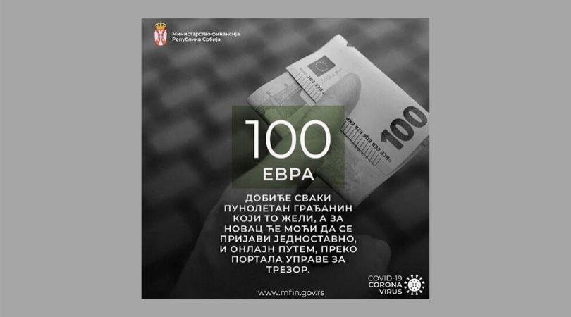 Kako do 100 evra jednokratne pomoći?