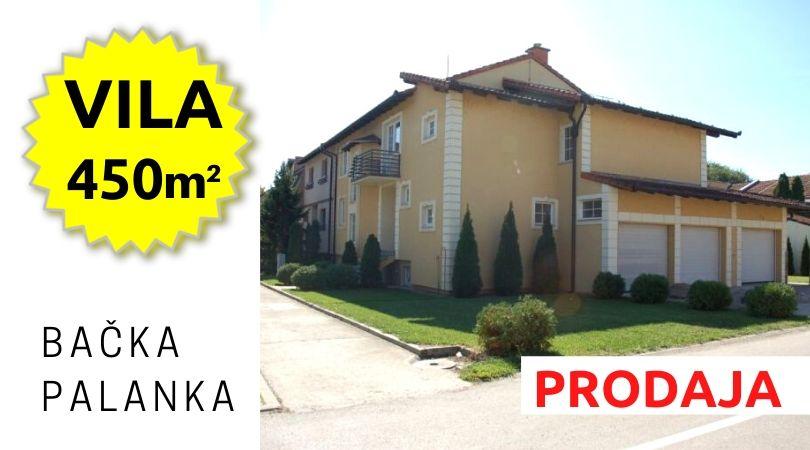 Oglasi: Na prodaju vila u Bačkoj Palanci (450 m2)
