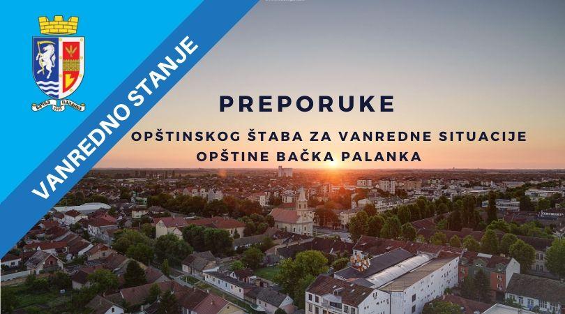 Preporuke za početak rada predškolskih ustanova i vrtića u opštini Bačka Palanka