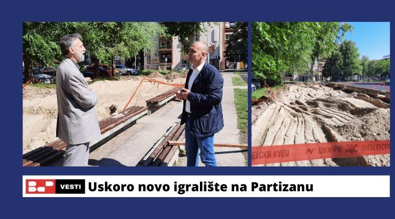 """Počela rekonstrukcija dečijeg igrališta u bloku """"Partizan"""""""