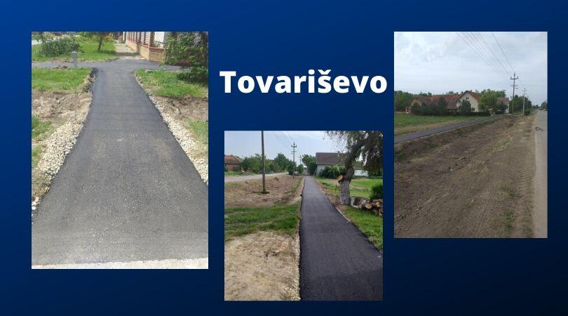 Afaltirano 400 metara trotoara u Tovariševu