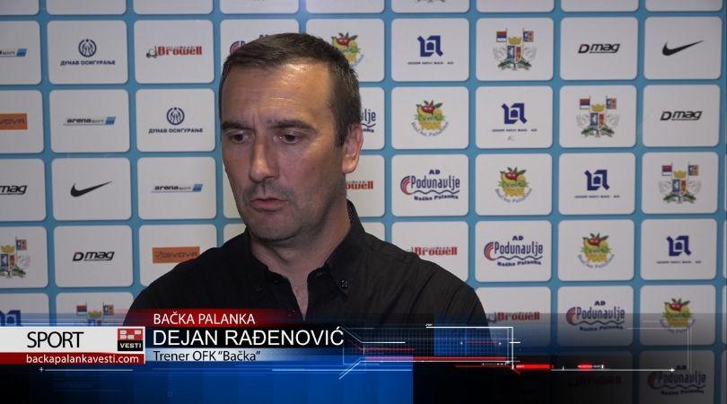 Dejan Rađenović: Bačka Palanka zaslužuje Super ligu!