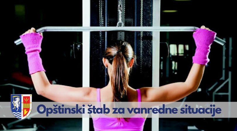 Naređuje se prestanak rada teretana i fitnes centara
